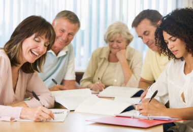 group of adult learners