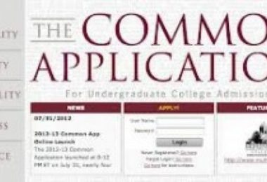 The Common Application (website screenshot)