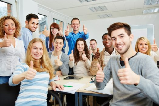 group of hs students