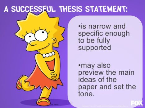 Successful Thesis Statement