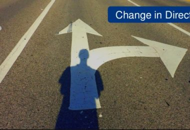 change in direction