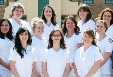 Group of nursing students, all ages