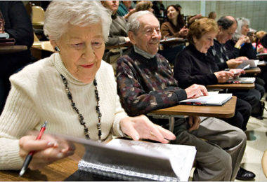 older students in class