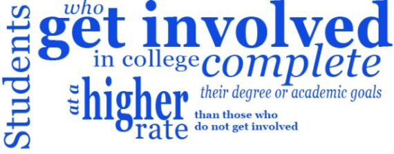 Students who get involved in college complete their degree or academic goals at a higher rate than those who do not get involved.