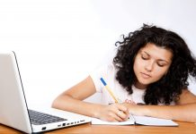 Female Student Studying Online