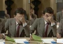 exam and mr bean