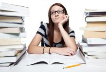 student thinking about scholarship
